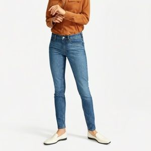Everlane High Rise Skinny Ankle Mid Blue Jeans 28